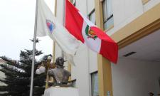 Ceremonia de Izamiento de Bandera por Fiestas Patrias